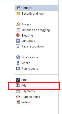 Anzeigeneinstellungen Facebook