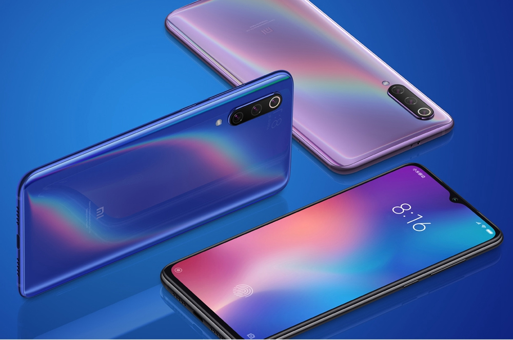 Xiaomi Mi 9 6,39 Zoll 4G LTE Smartphone Snapdragon 855 6GB 128GB 48.0MP + 12.0MP + 16.0MP Dreifache hintere Kameras MIUI 10 Fingerprint-Fingerabdruck NFC-Schnellladung - Grau