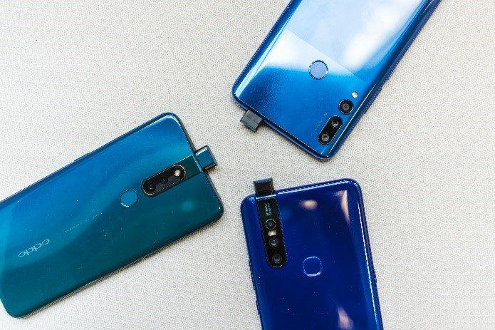 Huawei Y9 Prime 2019 gegen OPPO F11 Pro gegen Vivo V15 Pro