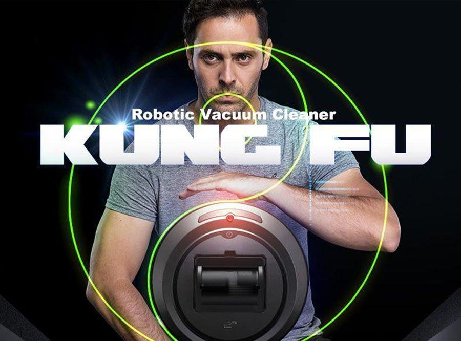 PUPPYOO WP615 Intelligenter Roboter-Staubsauger mit intelligentem Reinigungsroutenzyklon + HEPA-Doppelfiltration Automatische Rückladung 1000Pa 2600mAh - EU mit Adapter