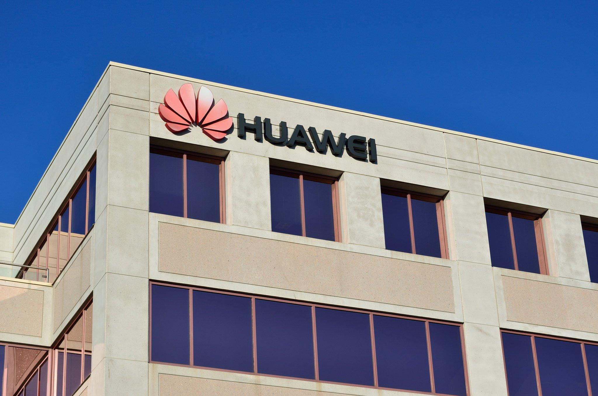 Huawei Gebäude mit Logo