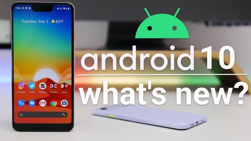 Android 10 erscheint in Kürze