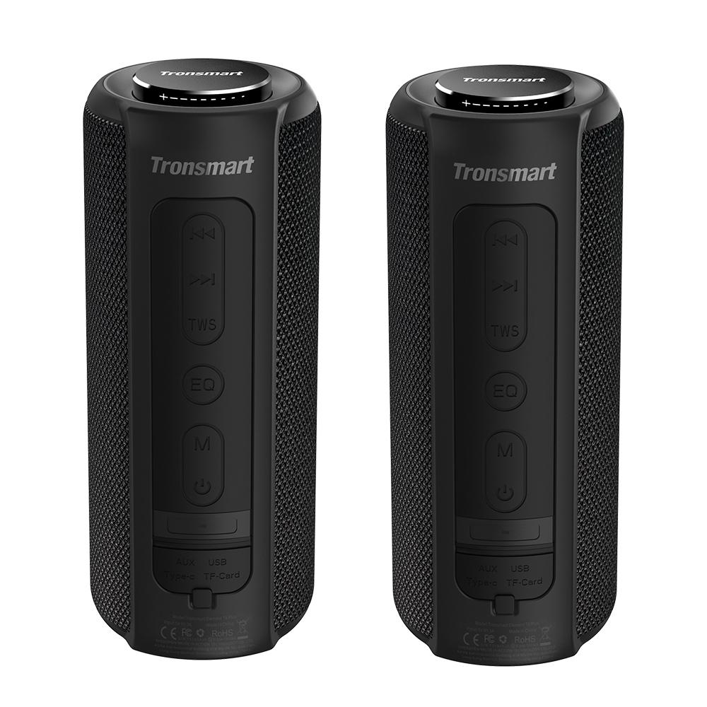 [2 Packs] Tronsmart Element T6 Plus Tragbarer Bluetooth 5.0-Lautsprecher mit 40 W maximaler Ausgangsleistung, Deep Bass, IPX6