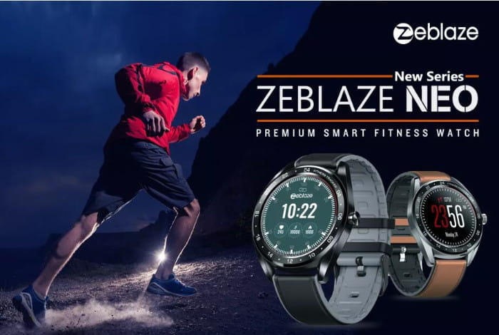 Zeblaze NEO 1,3 Zoll Full-Round-Touchscreen-Blutdruck-Herzfrequenz-Messgerät Weibliche Physiologische Check Countdown Stoppuhr Silikon + Lederband Smart Watch - Braun