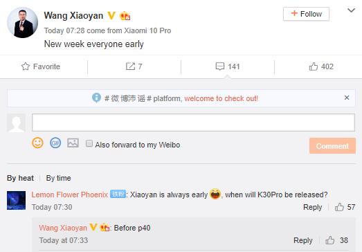 Redmi K30 Pro startet am 24. März