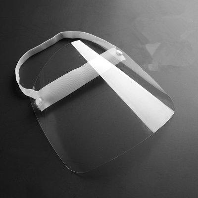 Vollflächige staubdichte transparente Maske Anti-Tröpfchen-Küche Kochen Visierschild Transparent_ Ungefähr 25 * 20 cm
