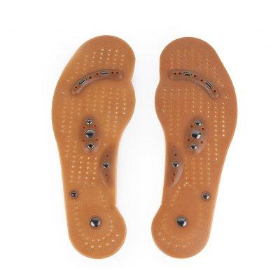 Magnetmassage-Einlegesohlen verbessern die Durchblutung lindern Fußschmerzen Massage-Einlegesohlen brown_L (40-45)