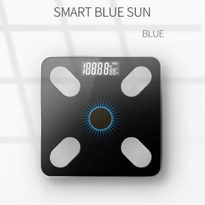Solar Charging APP Bluetooth Intelligente elektronische Gewichtsbalance Körperfettwaage Unterstützung für Android oder IOS Mang Solar Charging_Blue light