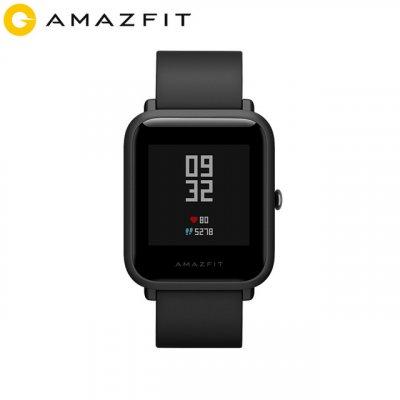 Huami Amazfit Bip Smart Watch Bluetooth GPS Sport Herzfrequenzmesser IP68 Wasserdichte Anruferinnerung MiFit APP Alarm Vibration schwarz