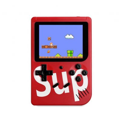 400 in 1 Sup Retro Nostalgie Double Handheld Spielekonsole Gamepad rot