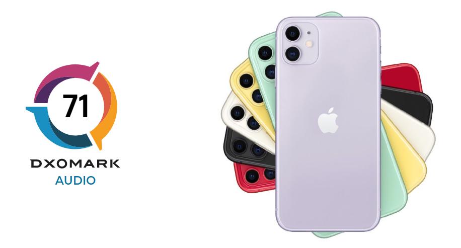 iPhone 11 DxOMark Audio