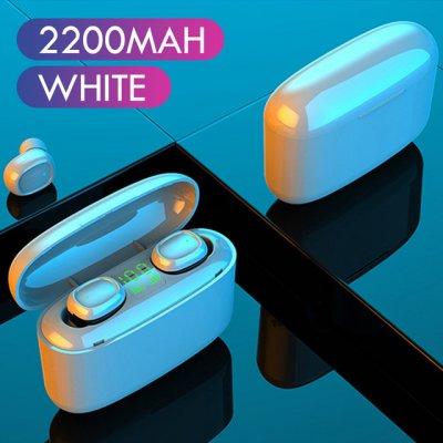 G5S Kunststoff TWS Bluetooth 5.0 Headset Touch-Taste Micro-USB-HD-Anrufe Kopfhörer weiß