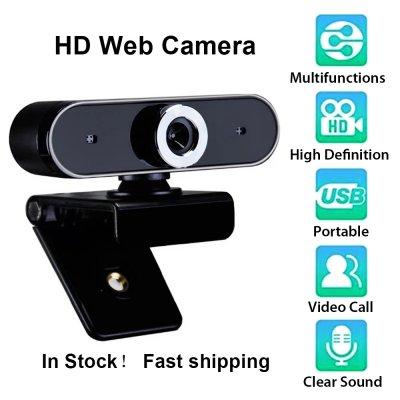 Webcam HD Webkamera Webkamera Video Chat Aufnahmekamera USB mit HD Mikrofon mit Mikrofon Für PC Computer schwarz