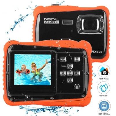LCD-Display Wasserdichte Action-Kamera - Rot