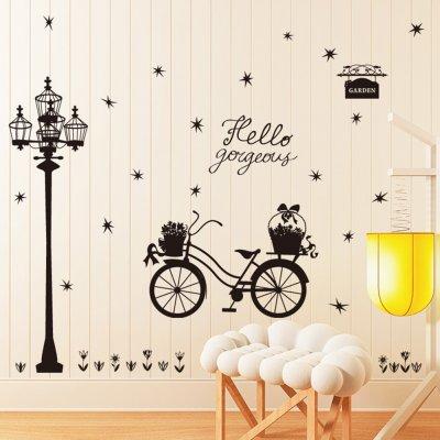 Abnehmbare Wandaufkleber Selbstklebende Straßenlaternen Muster Diy Home Schlafzimmer Dekor Wandtattoos 60 * 90cm