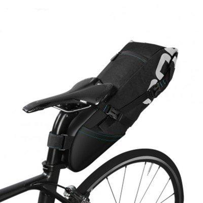 8L / 10L Fahrrad Fahrrad Radfahren Wasserdichte Packtasche Sattel Rücksitzträger Tragbare Sitztasche Paket black_Basic Modelle 8L