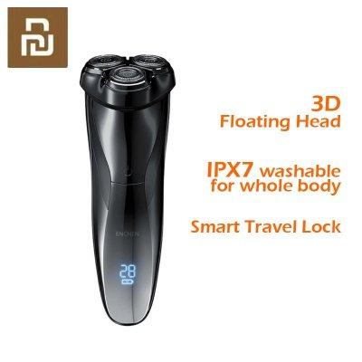 Enchen Black Stone3Pro 3D Elektrorasierer IPX7 Wasserdichter waschbarer wiederaufladbarer Typ-C-Rasierer mit Smart Travel Lock schwarz