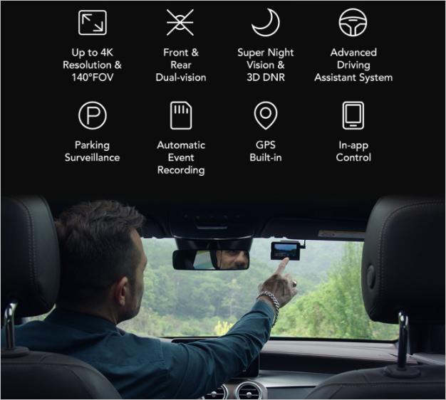 70Mai A800 Dual-Vision 4K Dash Cam