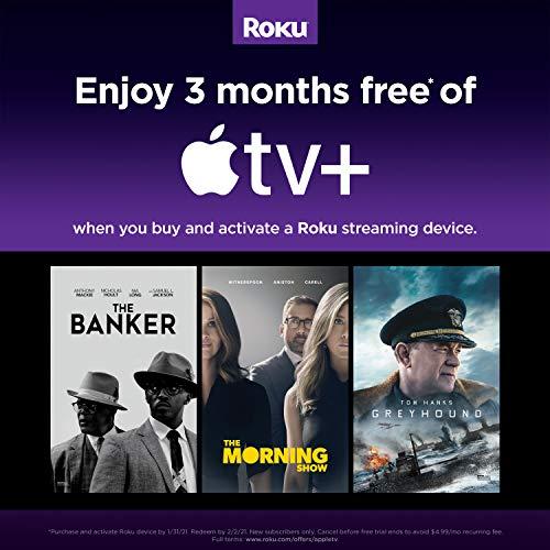 Roku Streaming Stick + | HD / 4K / HDR-Streaming-Gerät mit drahtloser Langstrecken- und Sprachfernbedienung mit TV-Steuerung