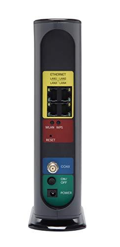 Motorola MG7550 16x4 Kabelmodem Plus AC1900 Dualband WiFi Gigabit Router mit Power Boost und DFS, maximal 686 Mbit / s DOCSIS 3.0 - Genehmigt von Comcast Xfinity, Cox, Charter Spectrum, More (Schwarz)