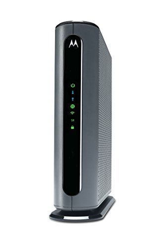Motorola MG7700 24x8 Kabelmodem Plus AC1900 Dualband-WLAN-Gigabit-Router mit Power Boost, maximal 1000 Mbit / s Docsis 3.0 - Genehmigt von Comcast Xfinity, Cox und mehr