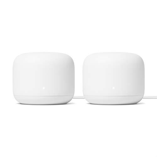 Google Nest WLAN-Router 2er-Pack (2. Generation) - 4x4 AC2200 Mesh-WLAN-Router mit einer Reichweite von 4400 Quadratmetern