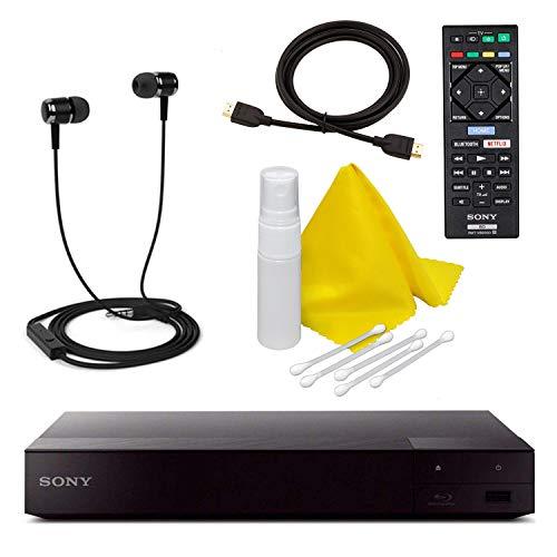 Sony BDP-S3700 Blu-Ray-Disc-Player mit integriertem WLAN + Fernbedienung + Hochgeschwindigkeits-HDMI-Kabel mit Ethernet - Netflix, YouTube, Pandora, Playstation Now, Crackle