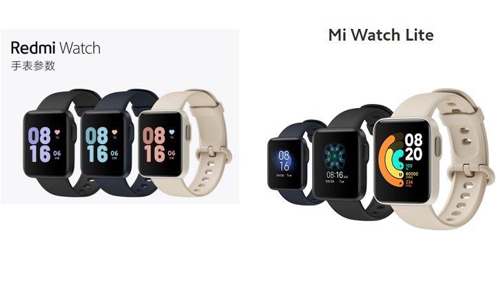 Redmi Watch gegen Mi Watch Lite