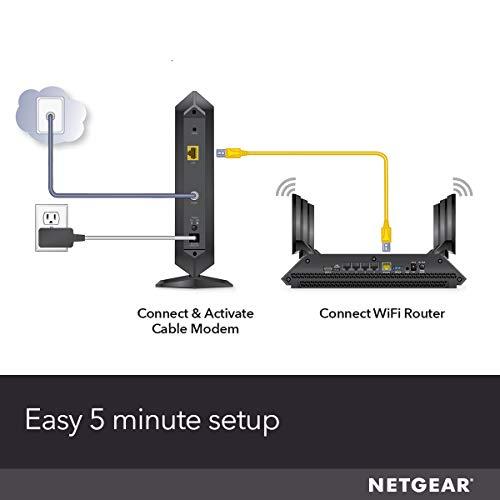 NETGEAR-Kabelmodem CM1000 - Kompatibel mit allen Kabelanbietern einschließlich Xfinity von Comcast, Spectrum, Cox | für Kabelpläne bis zu 1 Gigabit | DOCSIS 3.1, Schwarz (CM1000-1AZNAS)
