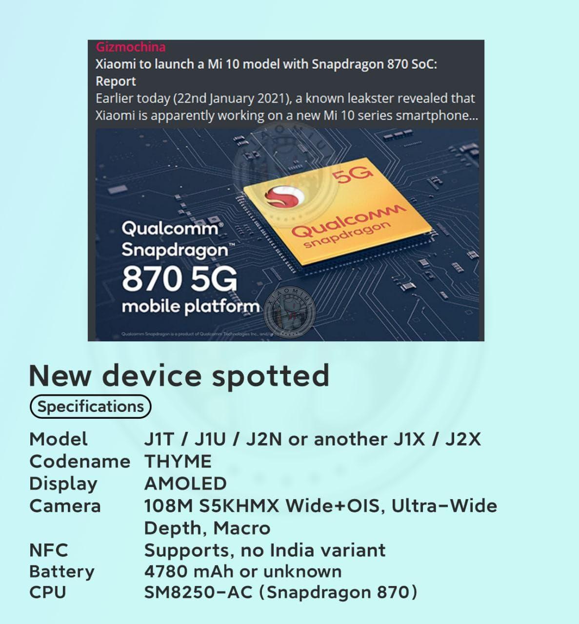 Snapdragon 870 y pantalla AMOLED a 120Hz, Xiaomi se trae algo nuevo entre manos. Noticias Xiaomi Adictos
