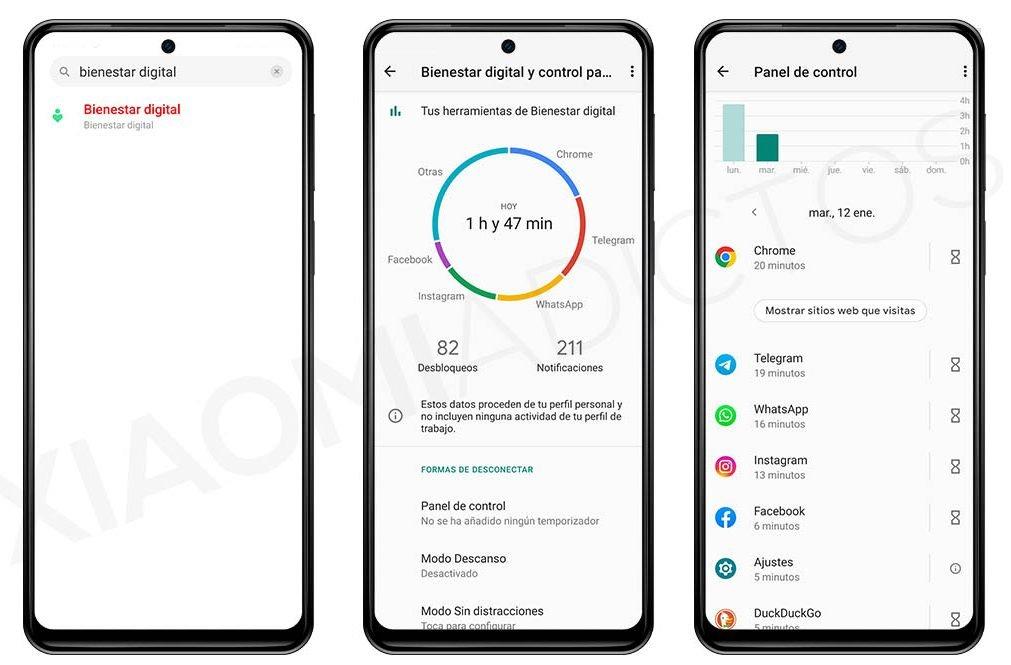 contabilizar horas aplicaciones miui de uso en un Xiaomi. Noticias Xiaomi Adictos