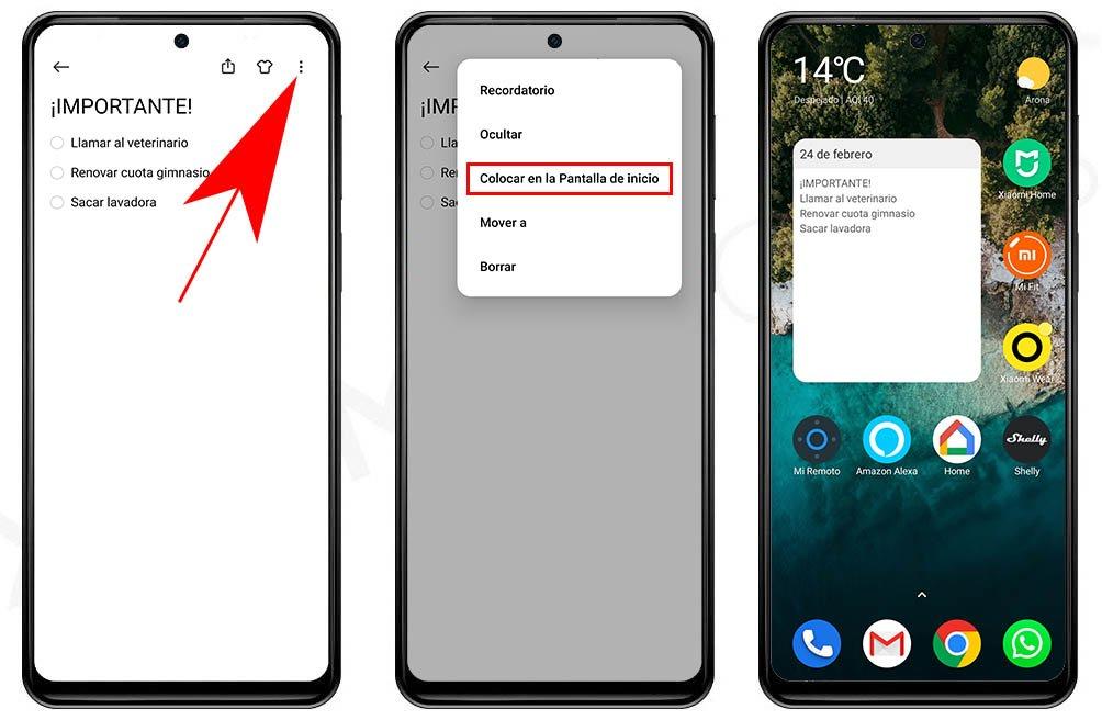 Cómo añadir notas en el escritorio de tu Xiaomi, Redmi o POCO. Noticias Xiaomi Adictos