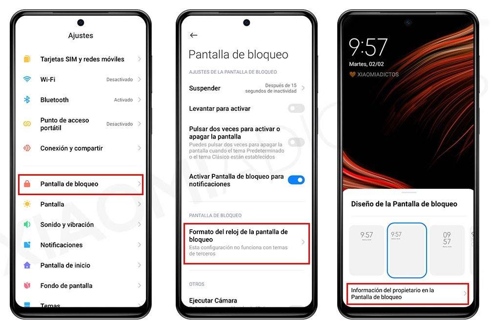 Así puedes añadir tu nombre o cualquier texto en la pantalla de bloqueo de tu Xiaomi. Noticias Xiaomi Adictos