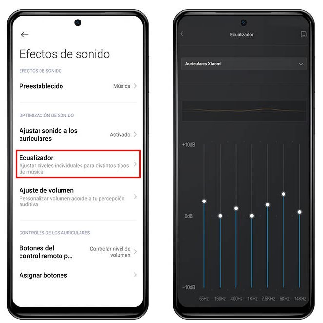 Mejora y ecualiza el sonido de tus auriculares con estos ajustes de MIUI. Noticias Xiaomi Adictos
