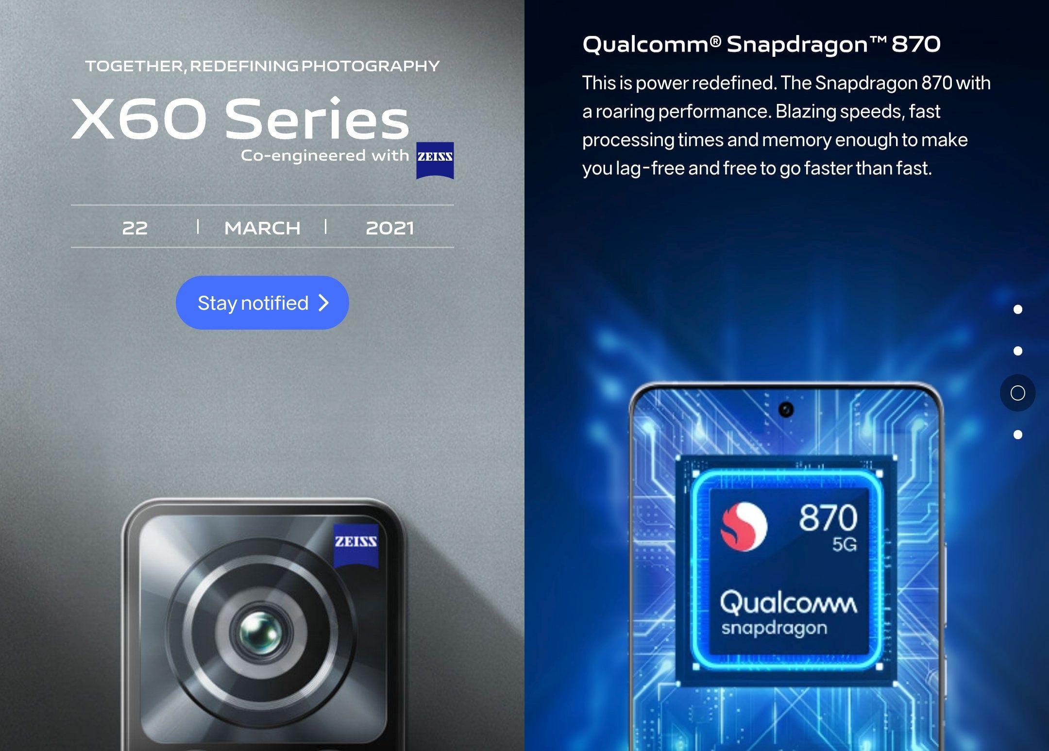 Startdatum der Vivo X60-Serie für globale Märkte