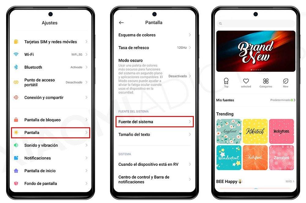 Cómo cambiar el estilo y tipo de letra de tu Xiaomi. Noticias Xiaomi Adictos