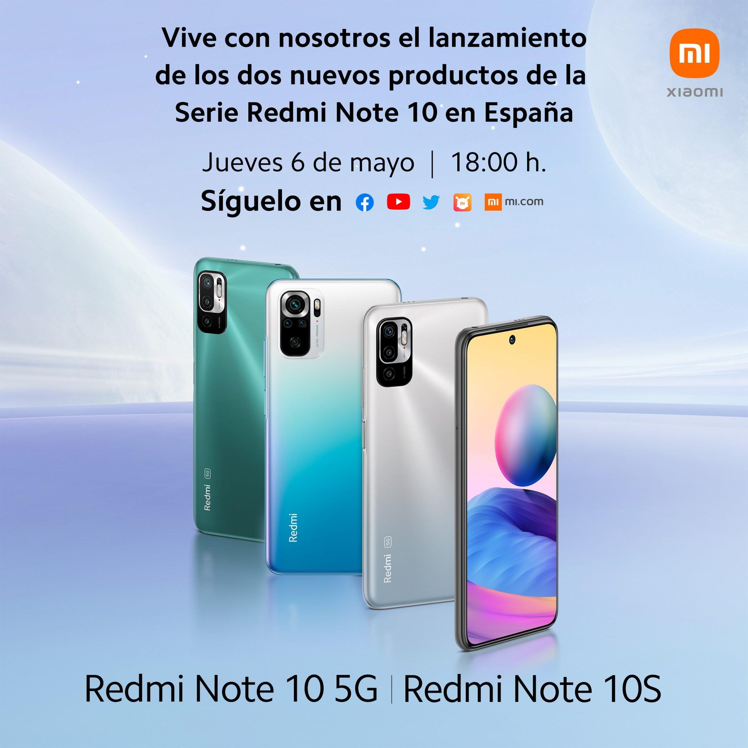 Los Redmi Note 10 5G y Note 10S llegarán a España oficialmente el 6 de mayo. Noticias Xiaomi Adictos