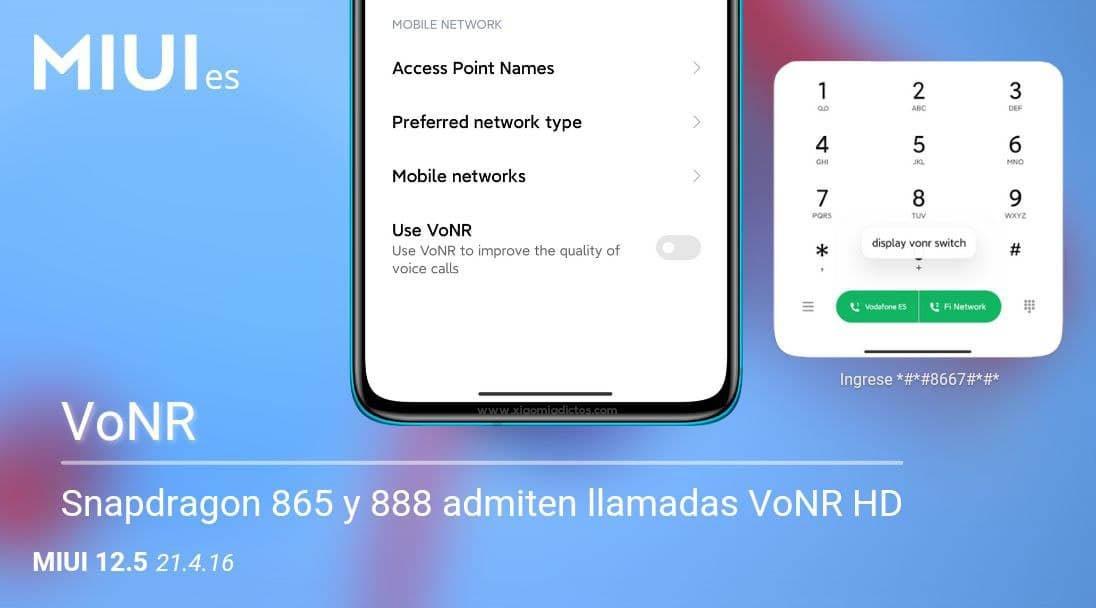 Las llamadas VoNR llegan a MIUI: qué son y cómo se activan en un Xiaomi. Noticias Xiaomi Adictos