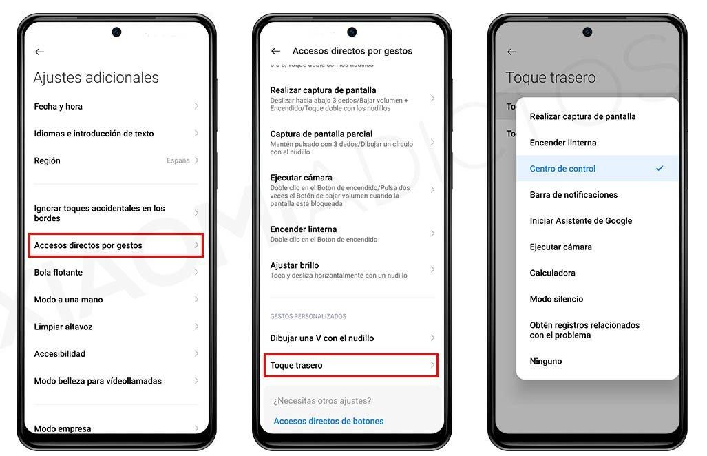 Así puedes invocar aplicaciones o ajustes tocando la parte trasera de tu Xiaomi. Noticias Xiaomi Adictos