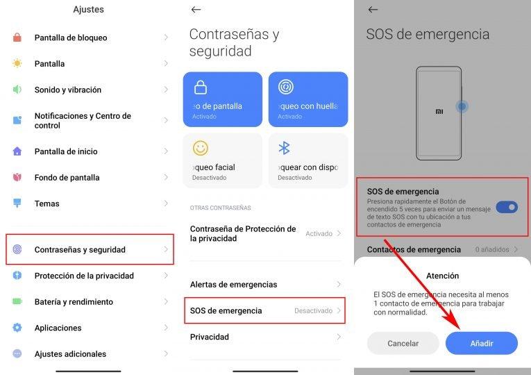 Qué es el modo SOS de emergencia y como puedes activarlo en tu Xiaomi. Noticias Xiaomi Adictos